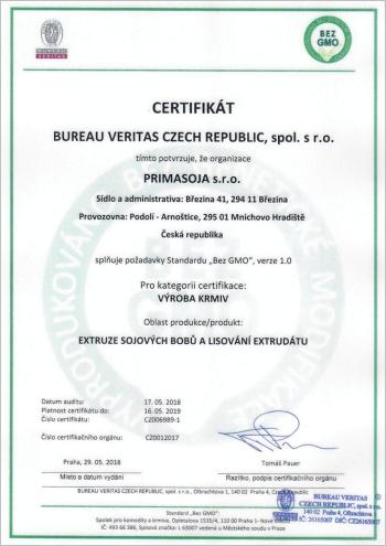 Certifikát NON GMOm3